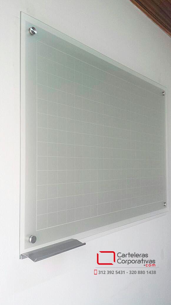 Tablero en vidrio templado con cuadr cula para universidad - Tablero vidrio malm ...
