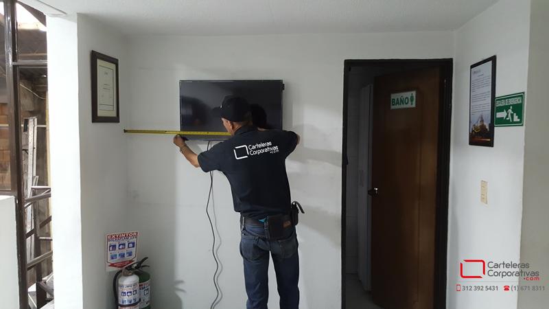 Instalación cartelera digital