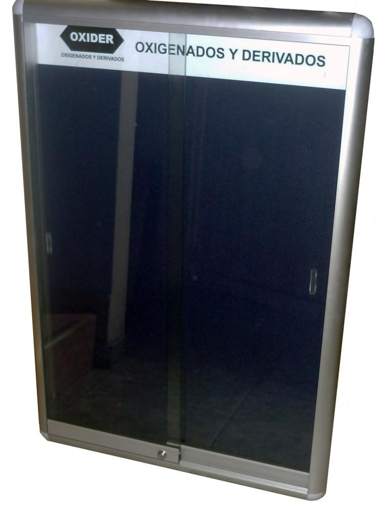 cartelera vitrina  vertical.