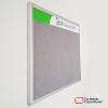 cartelera convencional en paño tamaño 80x80 cms color gris vista lateral ticsa