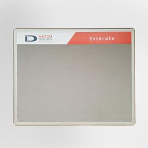 cartelera convencional en paño y marco en aluminio tamaño 100x70