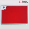 cartelera convencional en paño color rojo tamaño 120x80 cms con marco en aluminio ascenso y descenso vista frontal