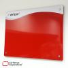 cartelera flotante magnética roja tamaño 100x70 cms vista lateral inferior