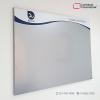 cartelera tipo retablo magnética 100x70 cms gris vista lateral