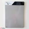 cartelera flotante magnética gris 70x50 cms vista frontal