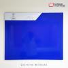 cartelera tipo retablo magnética 120x100 azul vista frontal
