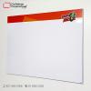 cartelera tipo retablo magnética blanca 150x100 cms vista lateral