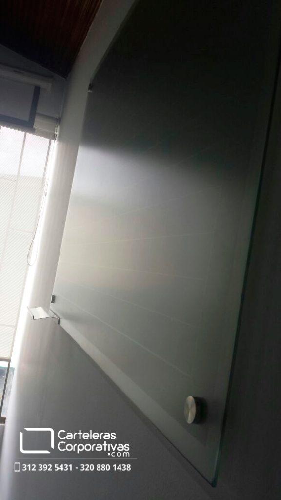 Tablero en vidrio templado para marcador borrable