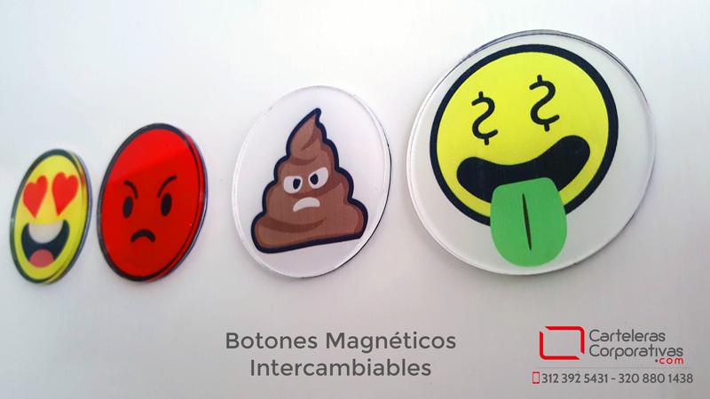 Botones magneticos intercambiables