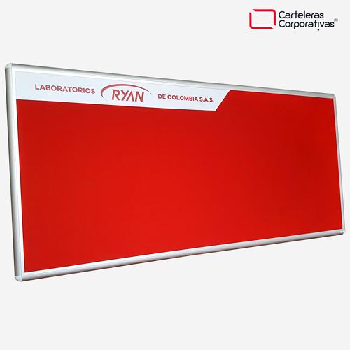 cartelera convencional en paño tamaño 200x120 ryan vista lateral inferior