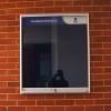 cartelera tipo vitrina 60x80 azul frontal
