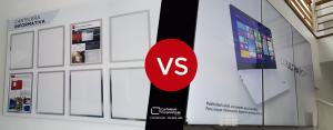 comparación entre carteleras digitales y carteleras tradicionales
