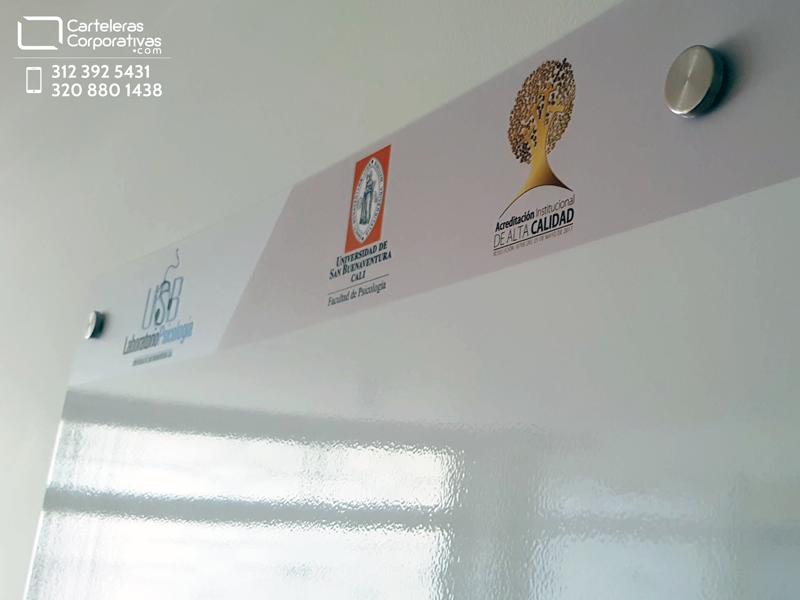 cenefa con logotipos de la universidad para personalizar la cartelera
