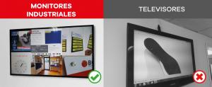 por que elegir un monitor industrial y no un televisor