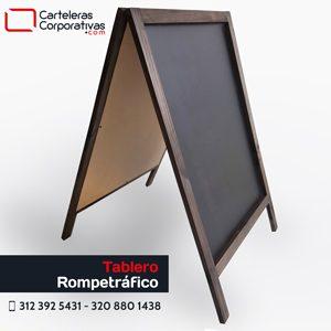 tablero rompetráfico para tiza doble cara con marco en madera