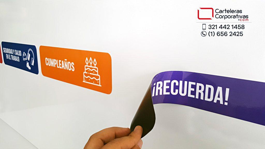 como se ponen y se quitan los títulos magnéticos intercambiables personalizados para empresa en la ciudad de Barranquilla