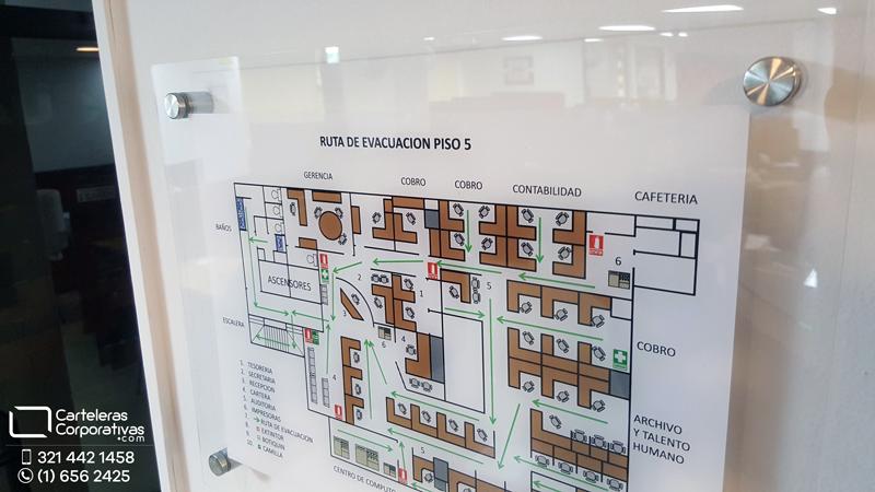 plano de evacuacion edificio de oficinas en bogota