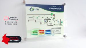 plano de evacuación para oficina en bogota vista diagonal
