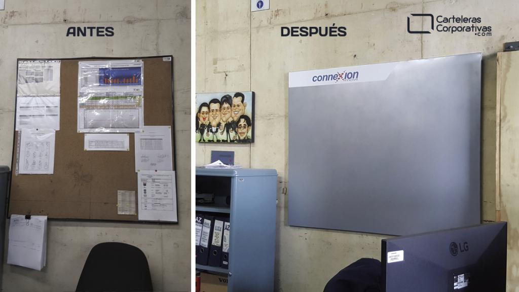 renovación de carteleras informativas para comunicación interna en empresa en Bogotá Colombia
