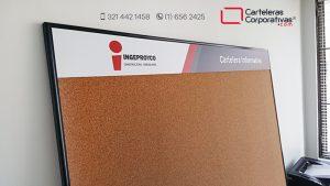 cartelera en corcho personalizada para ingeproyco