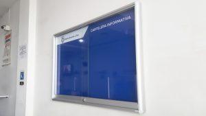 cartelera tipo vitrina notaria 62 azul