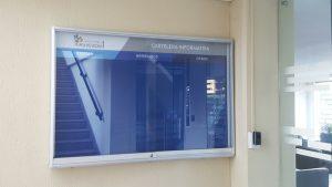 cartelera tipo vitrina para conjunto residencial