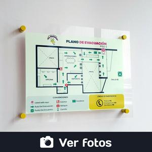ver fotos de planos de evacuación