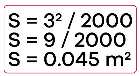 Ejemplo de Fórmula para hallar tamaño de señalización