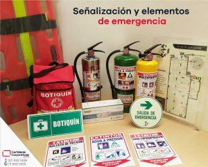 Señalización y elementos de emergencia