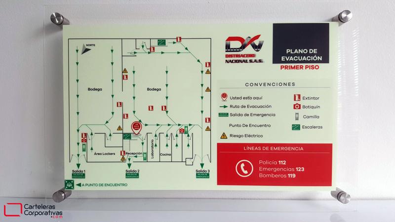 Plano de evacuación por piso
