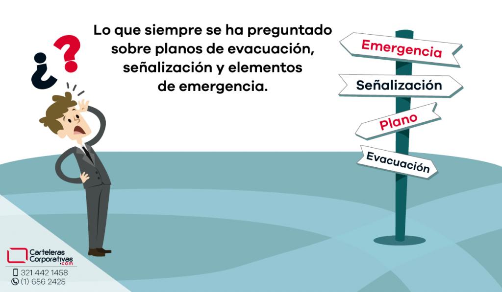Lo que siempre se ha preguntado sobre planos de evacuación, señalización y elementos de emergencia