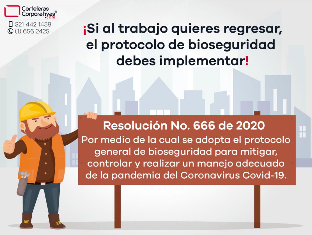 Resolución 666 de 2020 protocolo de bioseguridad