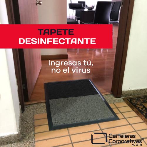 tapete desinfectante coronavirus vista exterior
