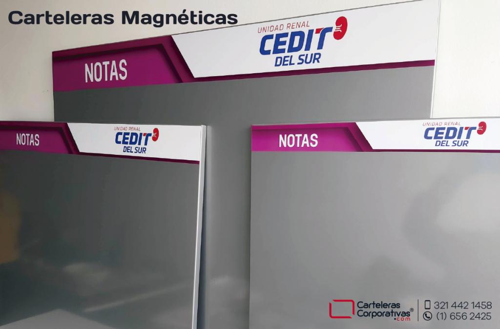 Carteleras flotantes magnéticas y carteleras tipo retablo magnéticas