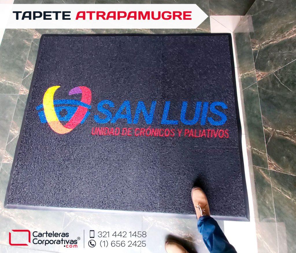 Tapetes atrapamugre personalizados con logotipo para ips