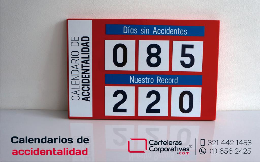 Calendario de accidentalidad color rojo en bogotá para entrega inmediata