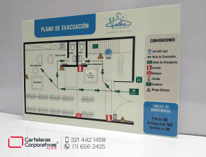 Plan de evacuación, mapa de evacuación, mapa de riesgos