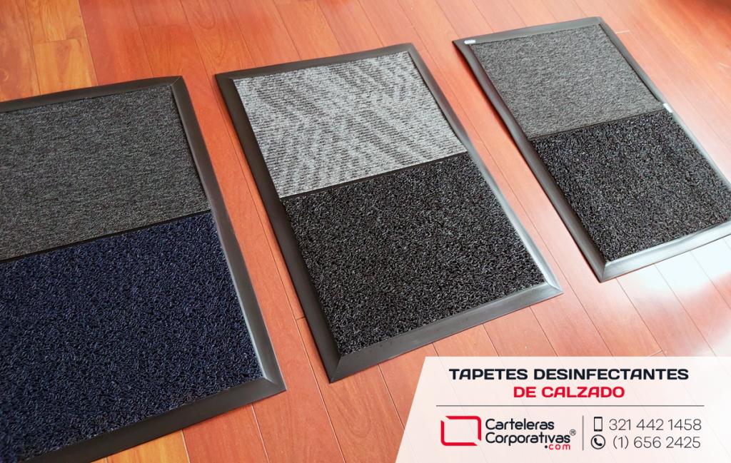 Tapetes desinfectantes de calzado en liquido vista diagonal en diferentes colores