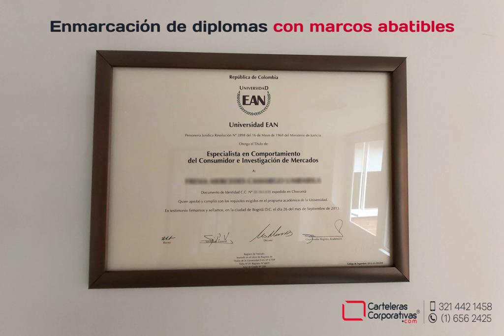 Marco abatible de 32x48 cms para la enmarcación de diplomas