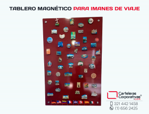 Tablero magnetico para imanes de viaje con dilatadores metálicos y diseño personalizado