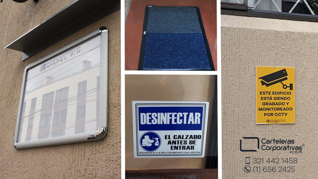 diferentes productos de comunicación para conjuntos residenciales