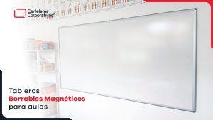 tableros borrables magnéticos para aulas de colegio en bogotá vista lateral