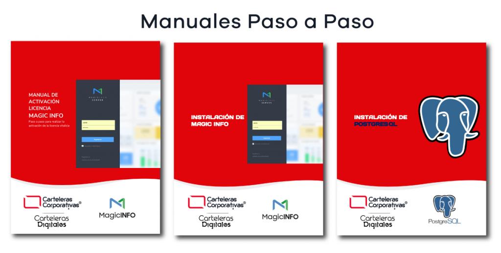 manuales de instalación paso a paso para cartelería digital en colombia magic info