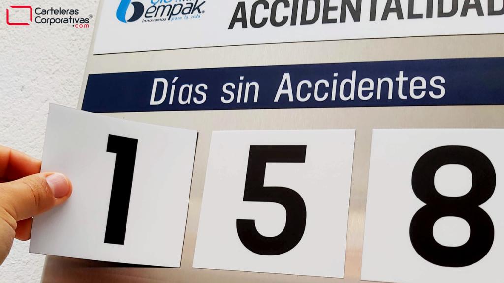 fichas magnéticas de número para calendario de accidentalidad magnético
