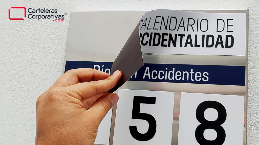 Ficha magnética de título de calendario de accidentalidad para empresa en el municipio de Tocancpá