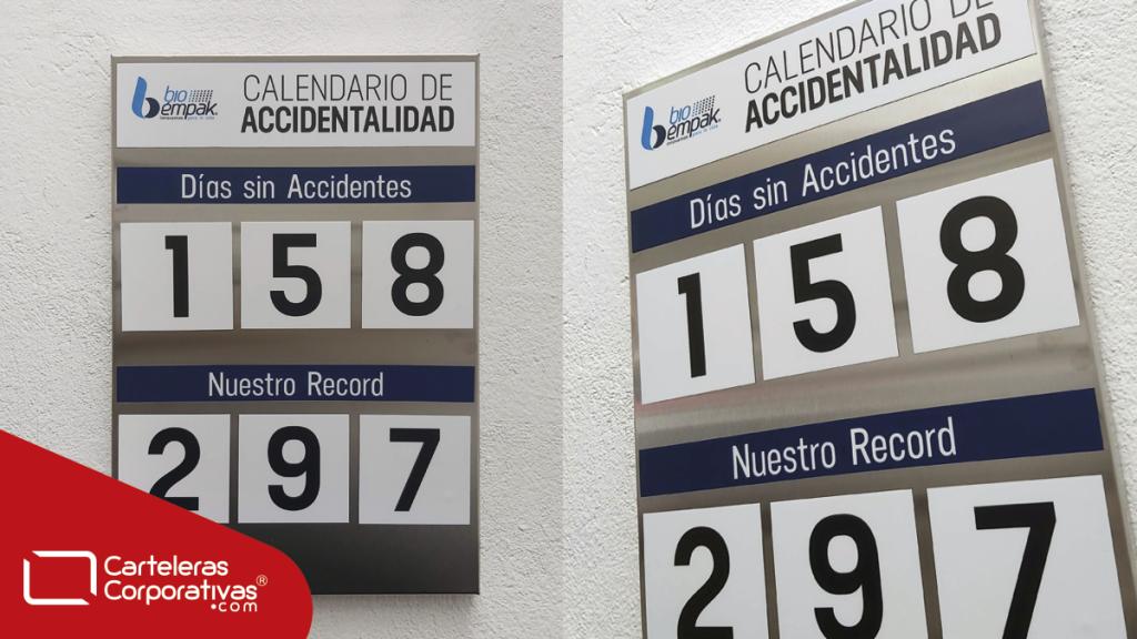 vista frontal y lateral de calendario de accidentalidad magnético entregado en el municipio de Tocancipá